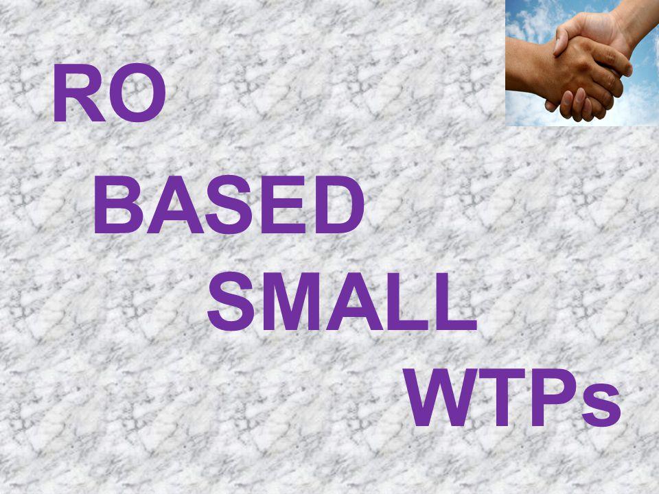 RO BASED SMALL WTPs