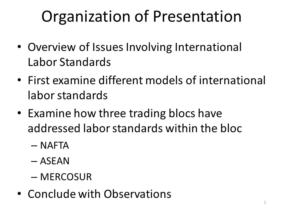 ASEAN SOCIO-CULTURAL COMMUNITY standard of living of disadvantaged groups and rural populations Workforce and human resources development through education, training, technology, job creation, and social protection (emphasis added) POINT: NO SPECFIC REFERENCE TO LABOR STANDARDS 42