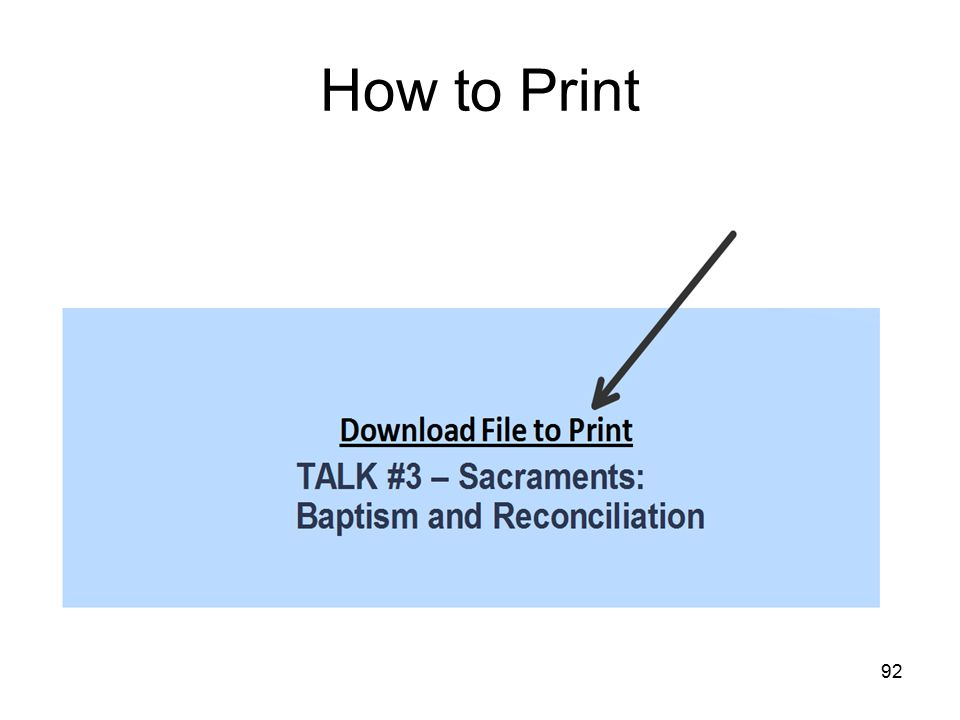 92 How to Print