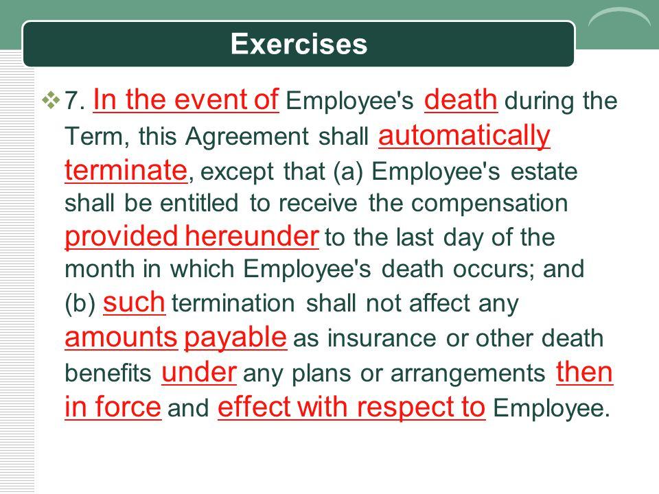 Exercises  7.