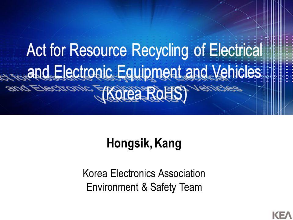 Hongsik, Kang Korea Electronics Association Environment & Safety Team