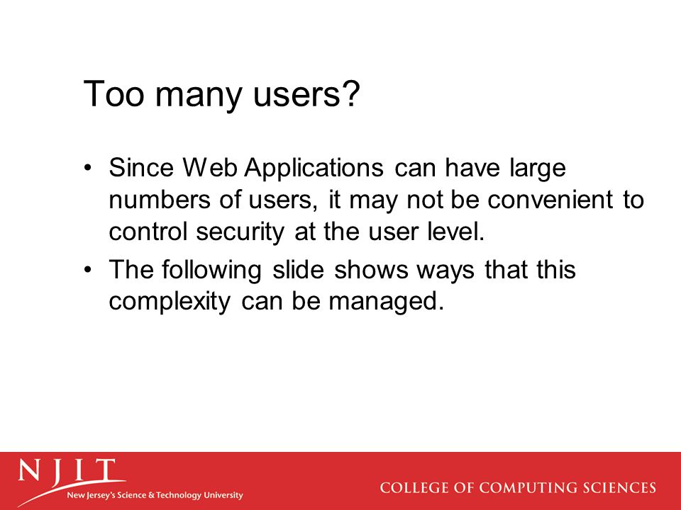 Too many users.