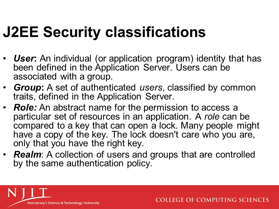User: An individual (or application program) identity that has been defined in the Application Server.
