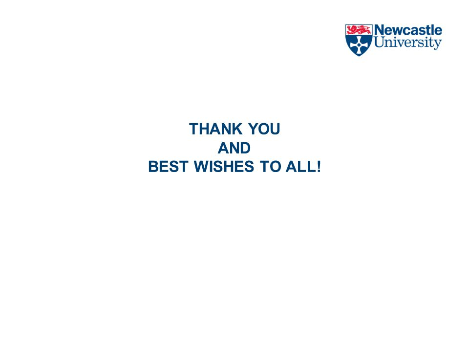 THANK YOU AND BEST WISHES TO ALL!