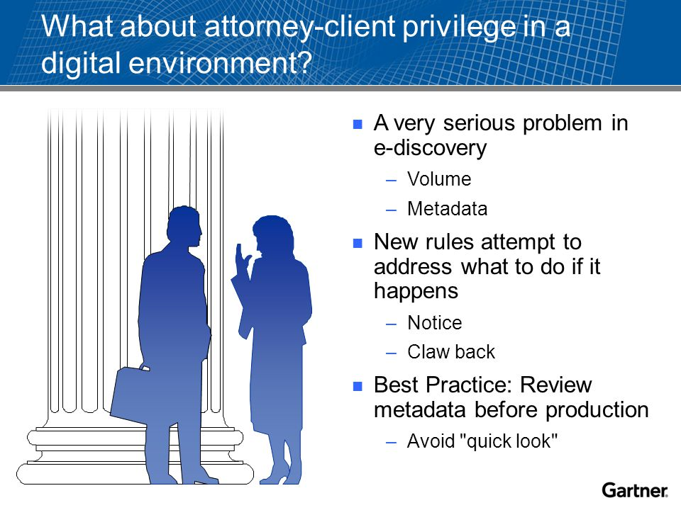 What about attorney-client privilege in a digital environment.