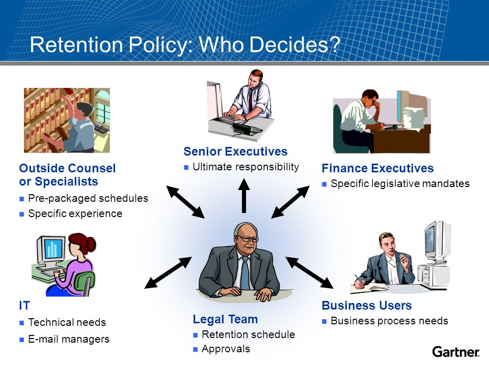 Retention Policy: Who Decides.