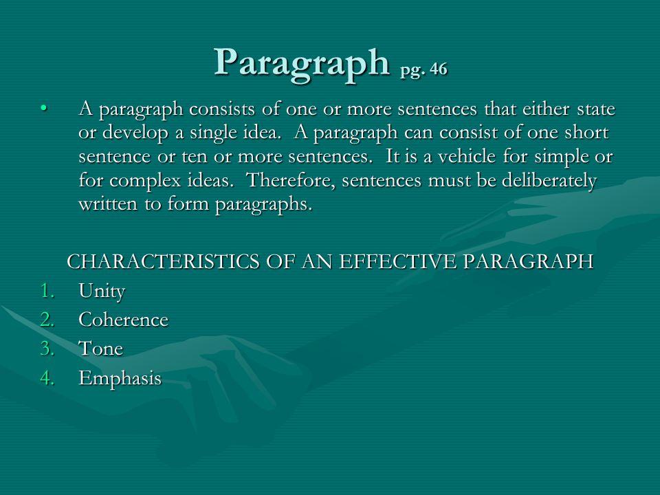 Paragraph pg.