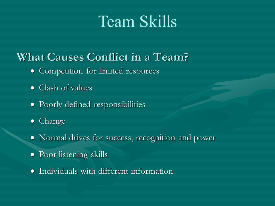 What Causes Conflict in a Team.