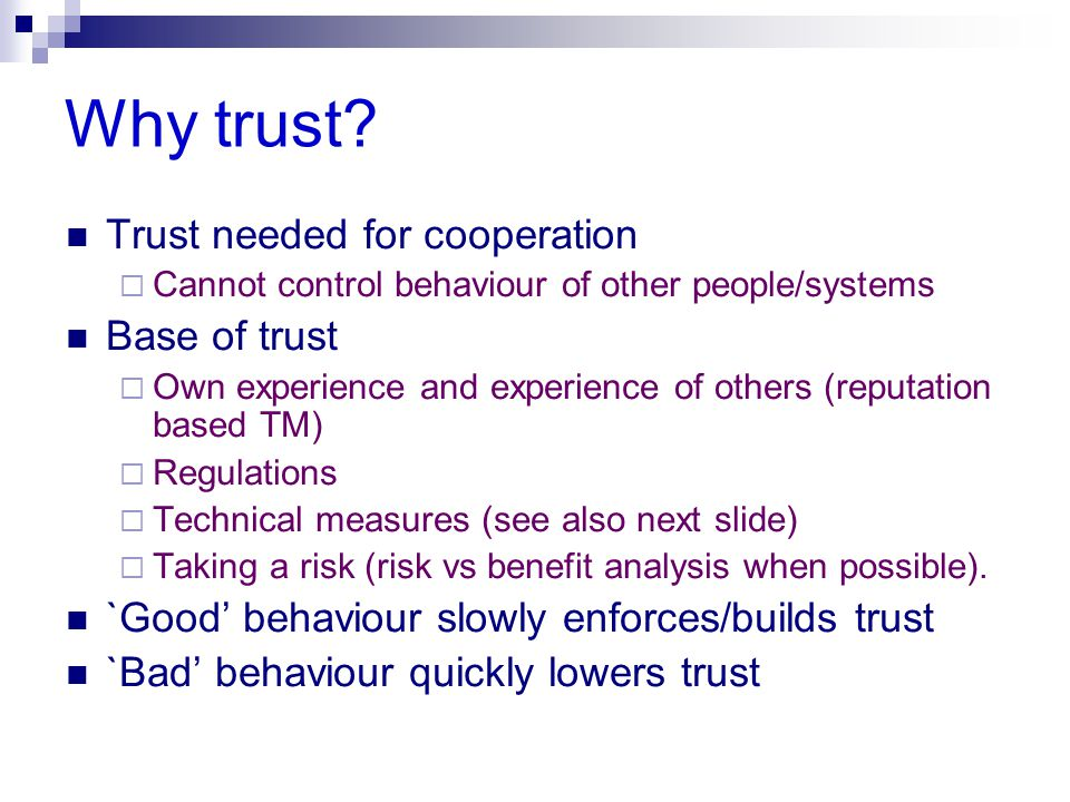 Why trust.