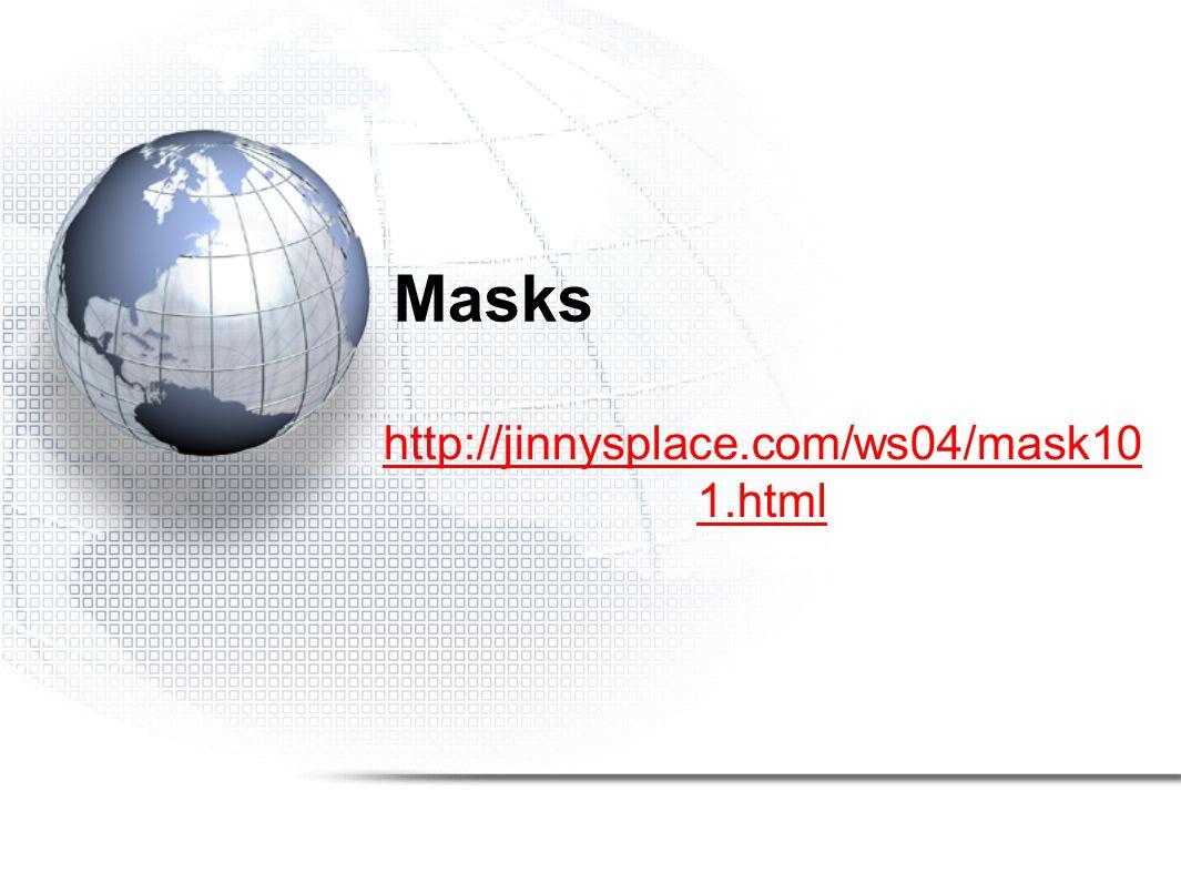 Masks http://jinnysplace.com/ws04/mask10 1.html