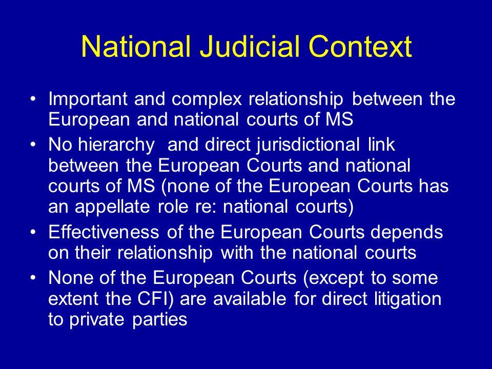 The International Context International Court of Justice (ICJ, the Hague court) International Labour Organization (ILO) World Trade Organization (WTO) International Criminal Court (ICC)