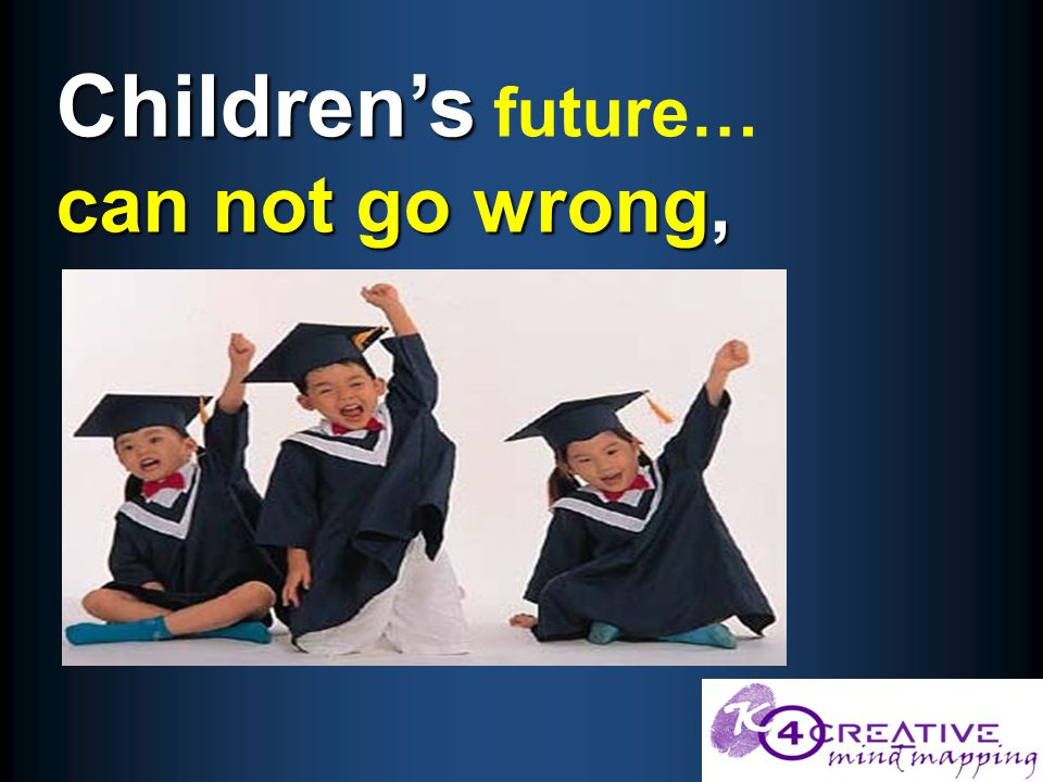 Children's can not go wrong, Children's future… can not go wrong,