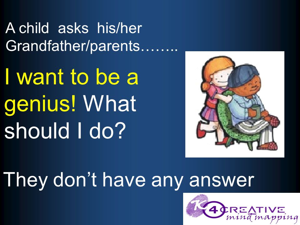 They don't have any answer A child asks his/her Grandfather/parents……..