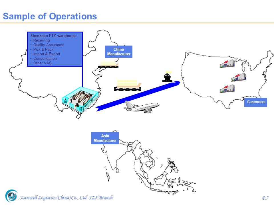 Scanwell Logistics (China) Co., Ltd SZX Branch P.8 Logistics Management