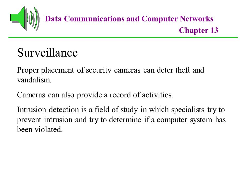 Data Communications and Computer Networks Chapter 13 Standard System Attacks Spoofing is when a user creates a packet that appears to be something else or from someone else.