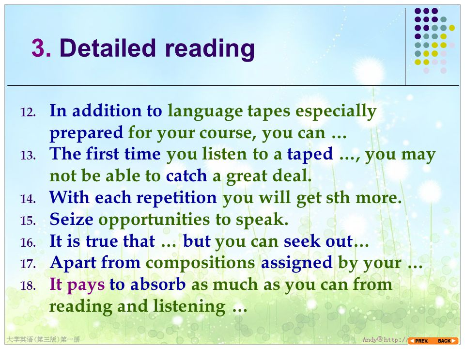 12. In addition to language tapes especially prepared for your course, you can … 13.