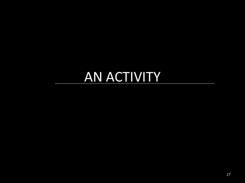AN ACTIVITY 17