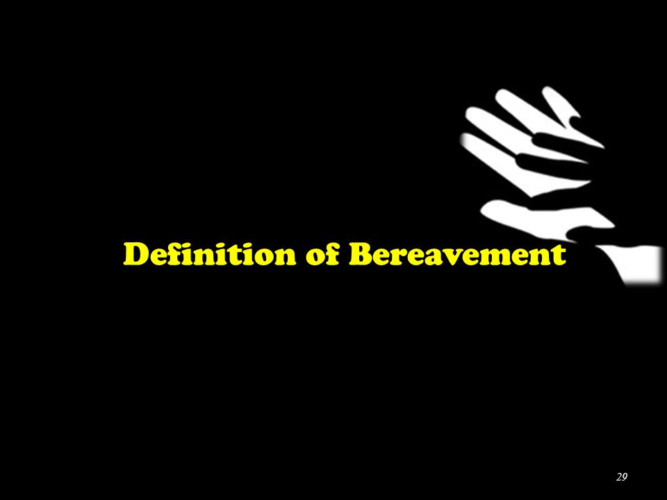 Definition of Bereavement 29