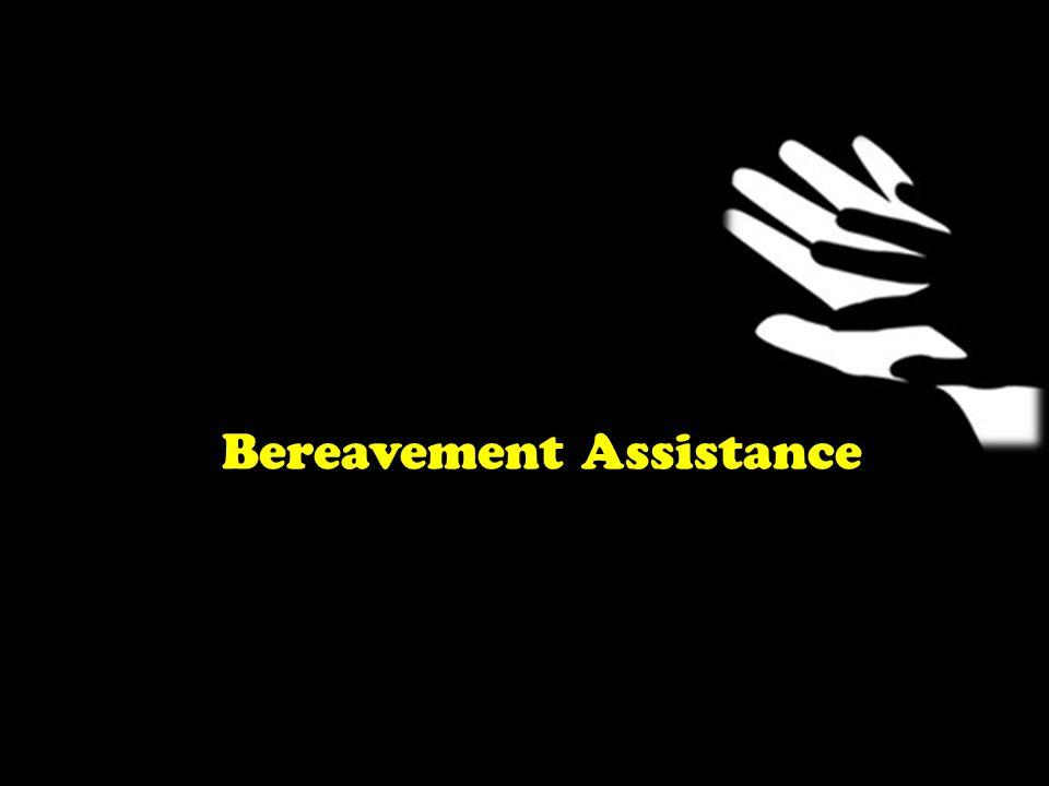 Bereavement Assistance