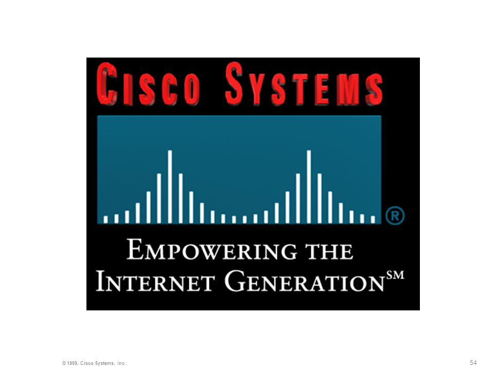 54 © 1999, Cisco Systems, Inc.