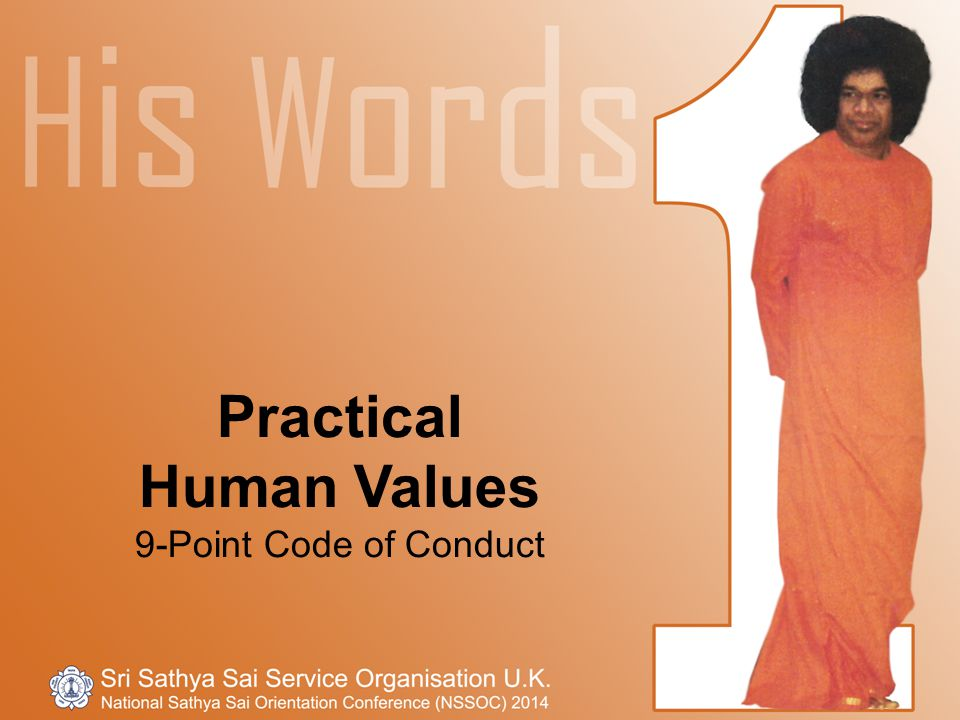 Practical Human Values 9-Point Code of Conduct