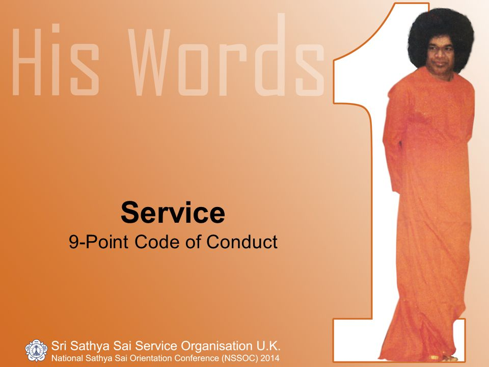 Service 9-Point Code of Conduct