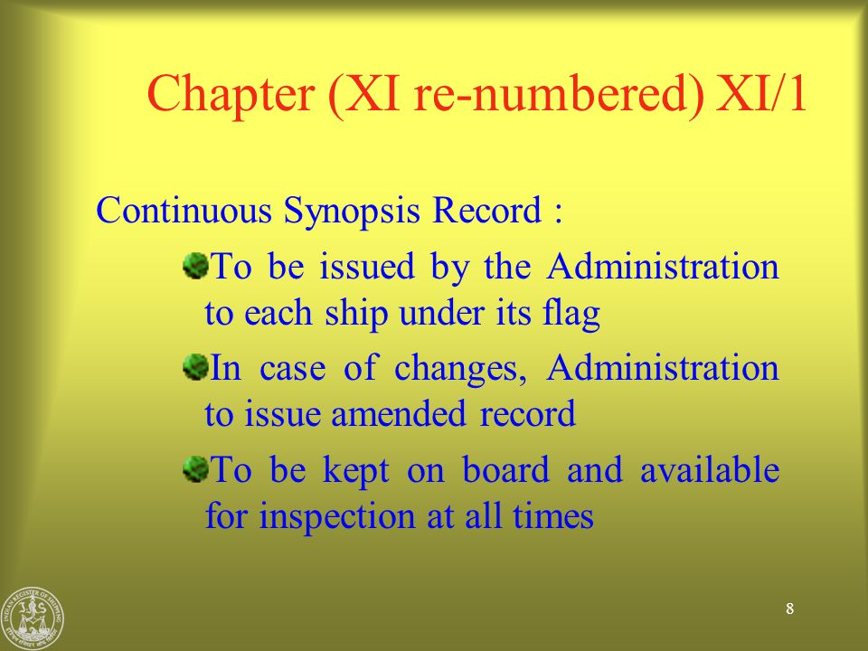 49 ISPS Code – CSO and SSO CSO and SSO : Company shall designate a person or persons as CSO and clearly identify for which ship/s each person is responsible.