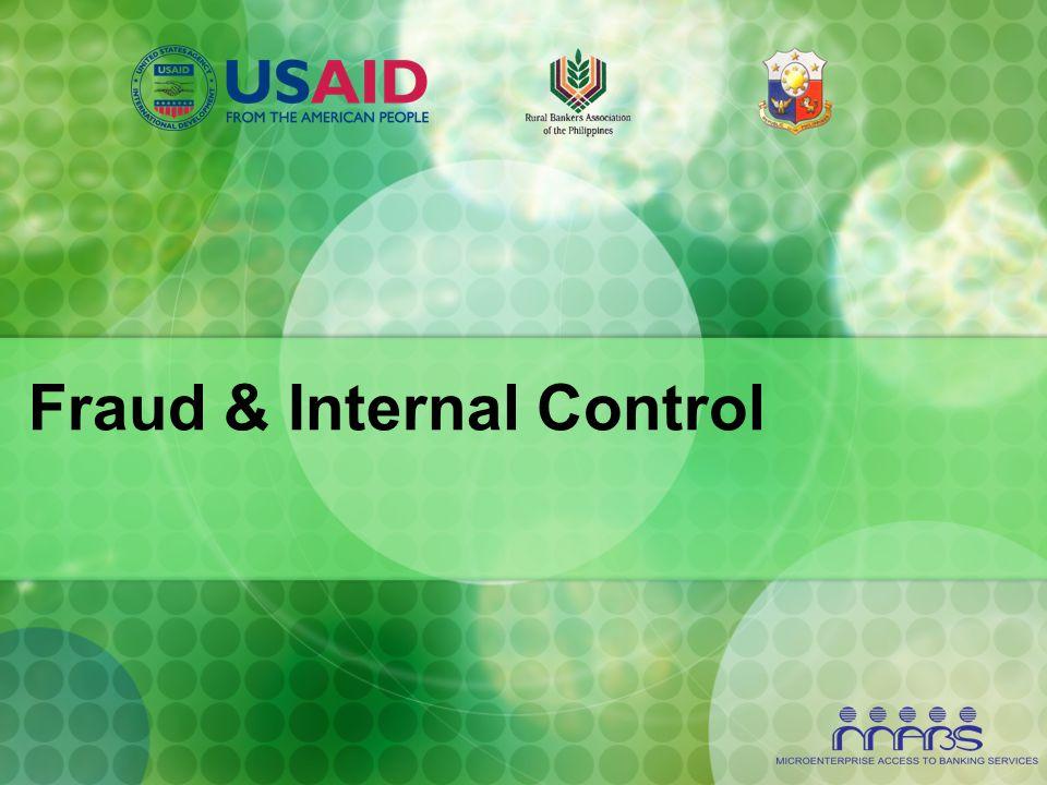 Fraud & Internal Control