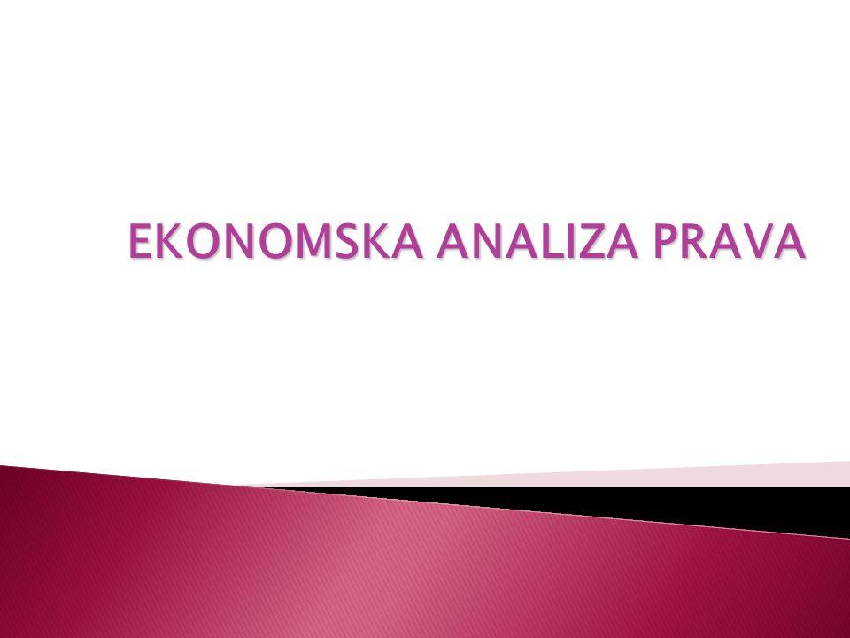  odnosi se na primjenjivanje ekonomskih metoda na pravne probleme i institucije.