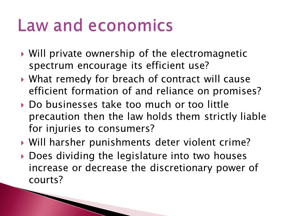  Will private ownership of the electromagnetic spectrum encourage its efficient use.