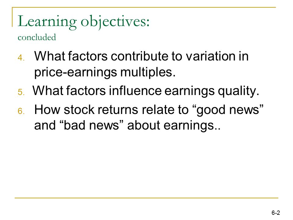 63 Summary This chapter provides a framework for understanding equity valuation.
