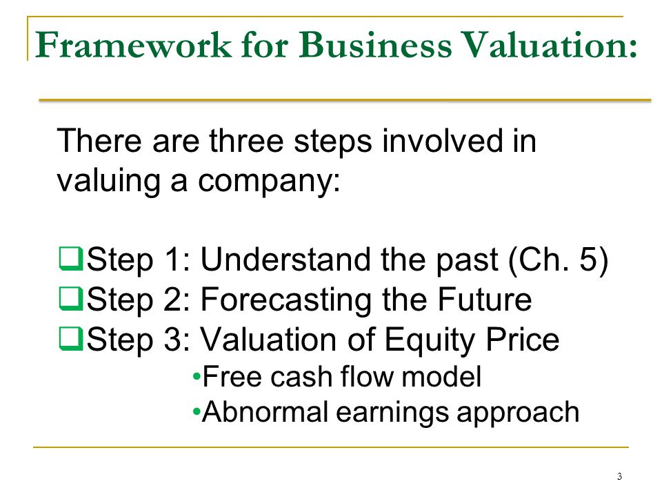 Business valuation: Discounted Free Cash Flow illustration Estimated DCF value per share 6-24