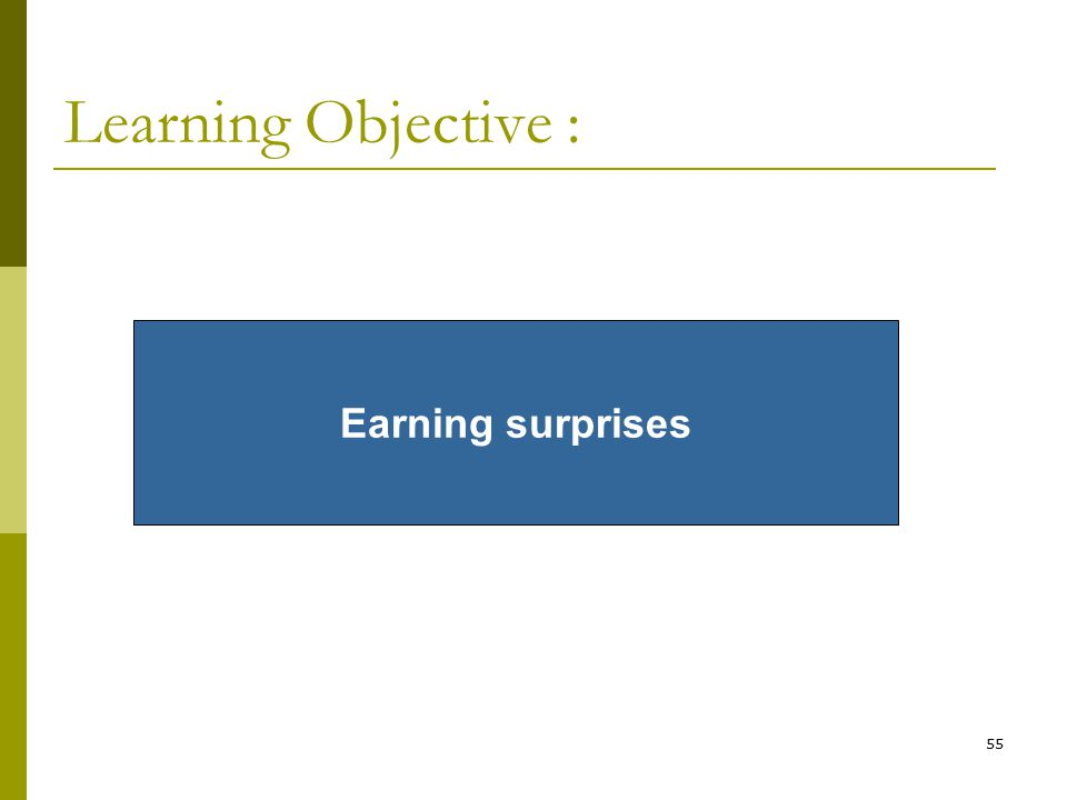 55 Learning Objective : Earning surprises