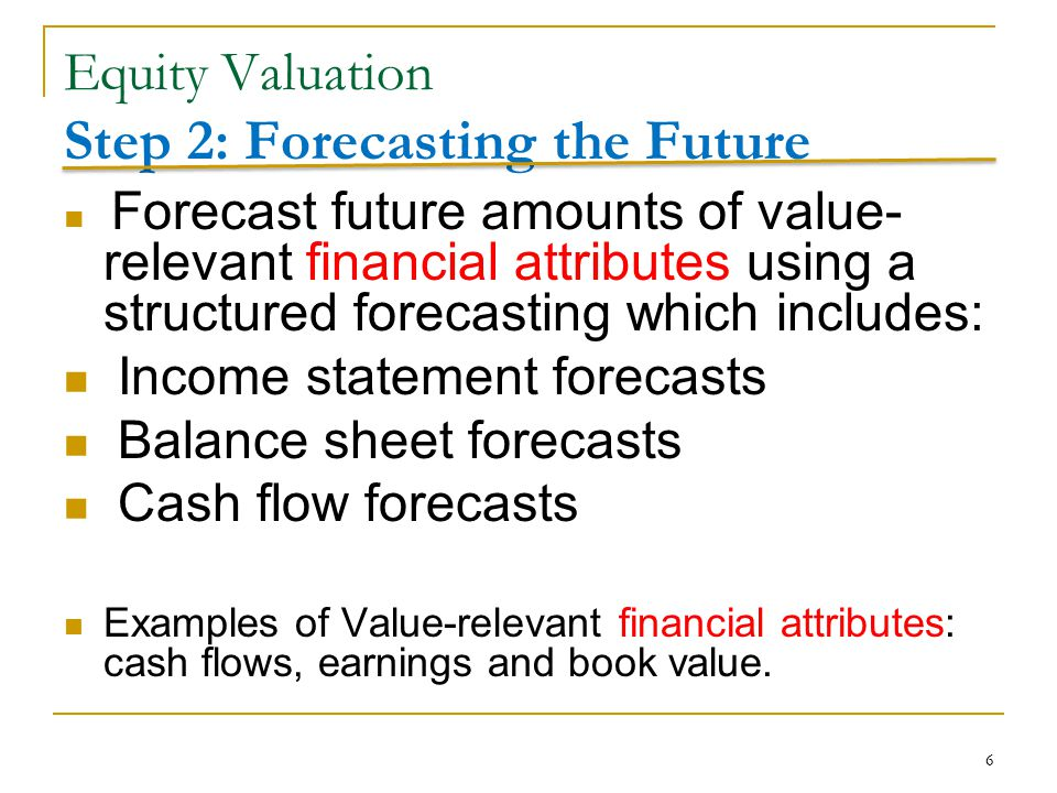 37 Terminal Value The explicit forecast of a firms' performance(i.e., earnings) generally extend for only a period of time.