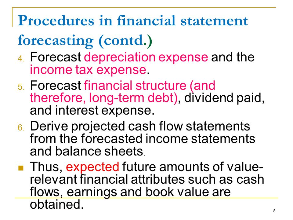 9 Financial Statement Forecasts Example (source: P6-21 of RCJM textbook, 4 th edition) Using the steps outlined in previous pages and the following information to forecast 2003 and 2004 financial statements of Krispy Kreme Doughnuts, Inc.: 1.