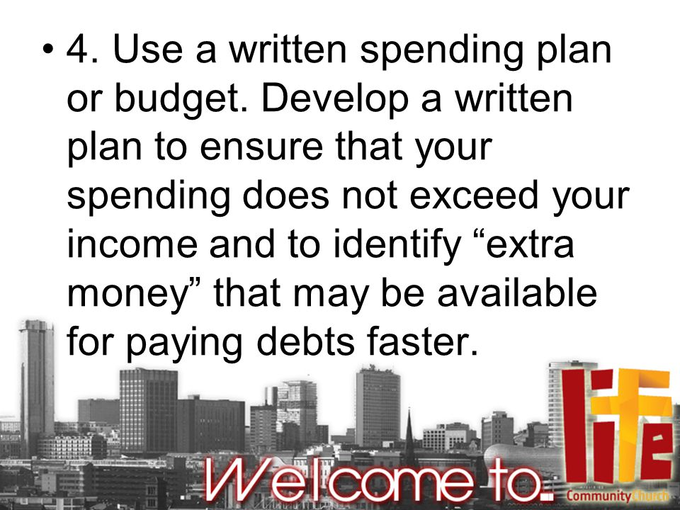 5.Establish a repayment plan for each debt. Communicate with your creditors.