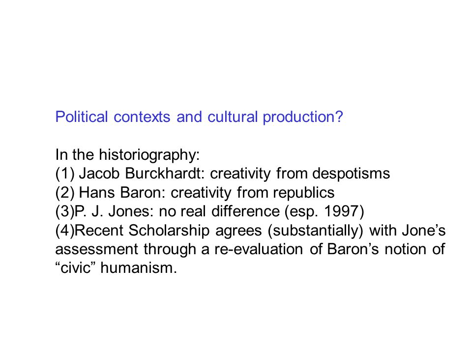 Political contexts and cultural production.