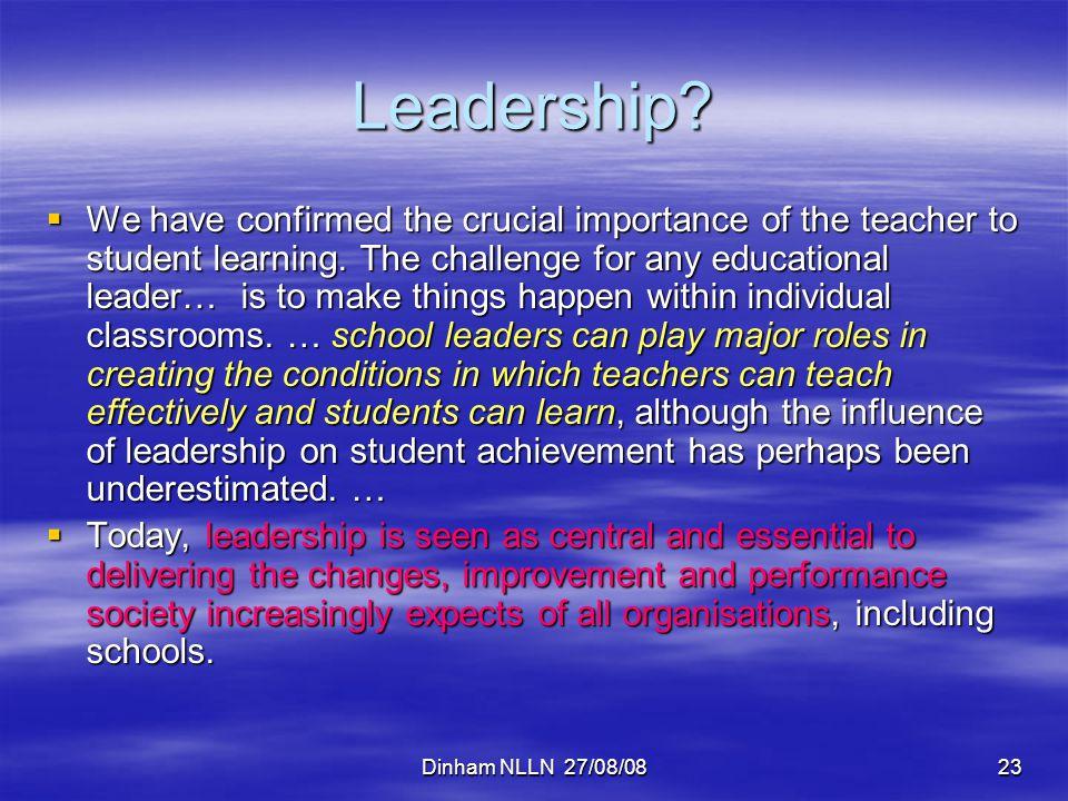Dinham NLLN 27/08/0823 Leadership.