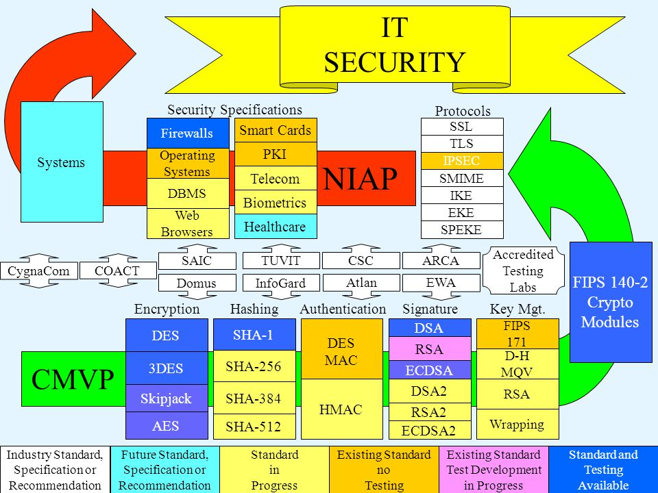 NIAP SSL TLS SMIME IKE EKE SPEKE IPSEC IT SECURITY Systems Smart Cards PKI Telecom Biometrics Healthcare Firewalls Operating Systems DBMS Web Browsers