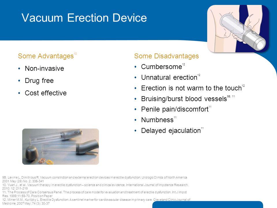 Vacuum Erection Device Some Advantages 10 Non-invasive Drug free Cost effective 9B. Levine L, Dimitrious R. Vacuum constriction and external erection