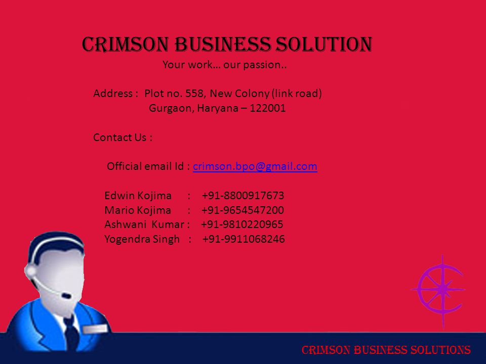 Crimson Business Solution Your work… our passion..
