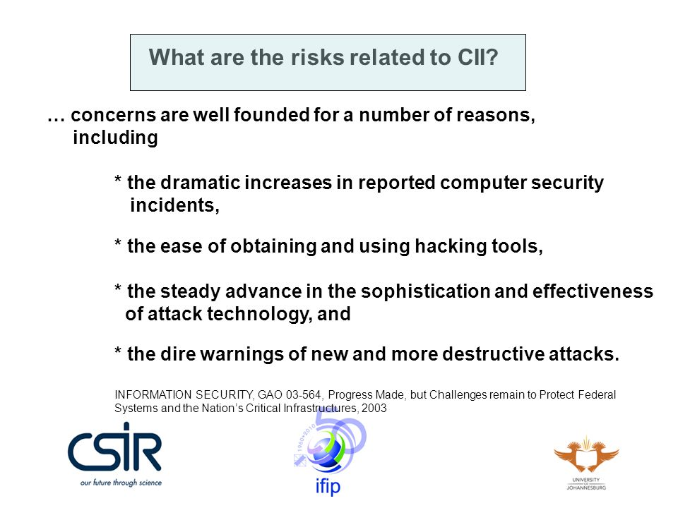 What are the risks related to CII.The use of the Internet in CIIs!!!.