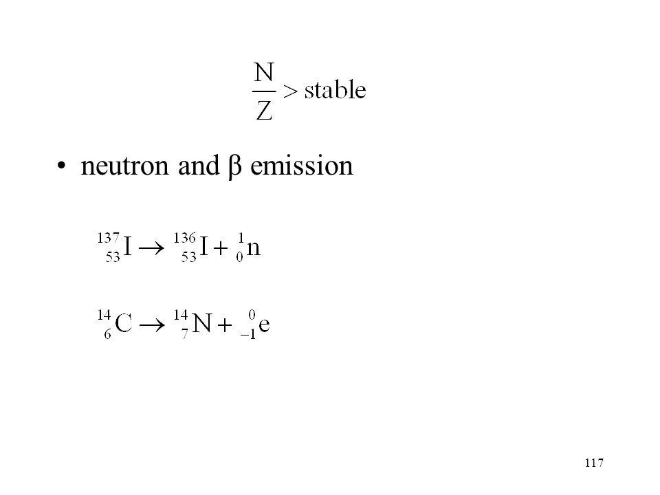 116 Z > 83 α and β emission