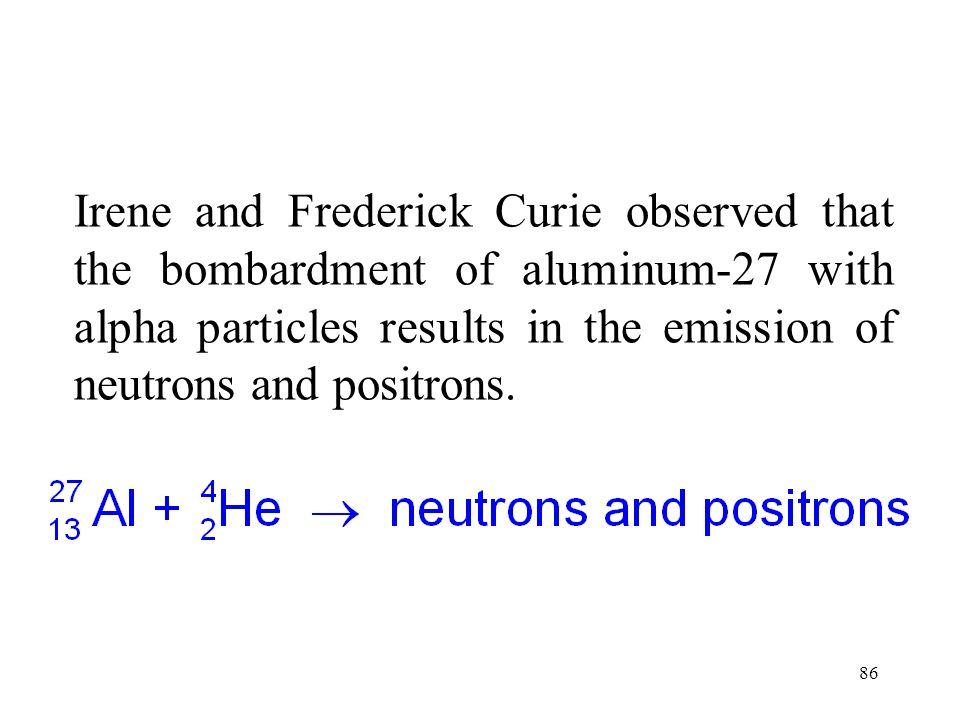 85 Artificial Radioactivity