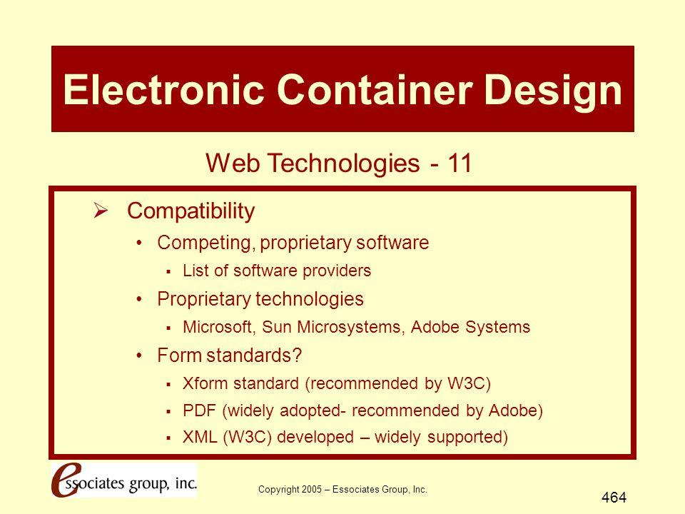 Copyright 2005 – Essociates Group, Inc.