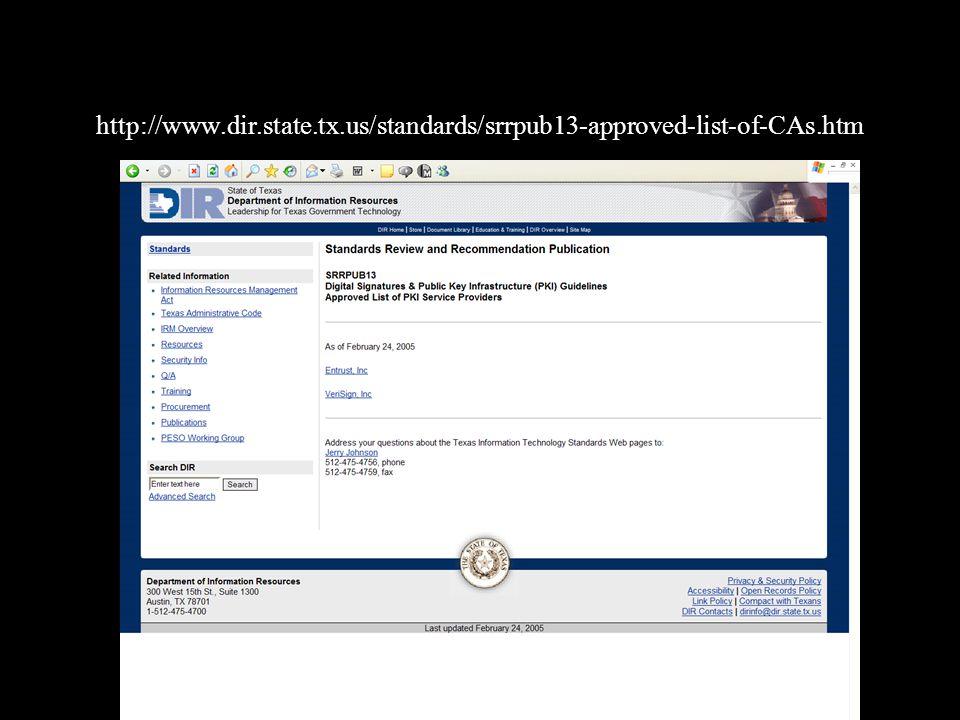 http://www.dir.state.tx.us/standards/srrpub13-approved-list-of-CAs.htm