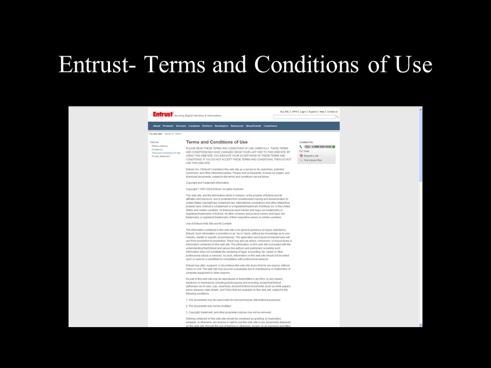 Entrust- Terms and Conditions of Use