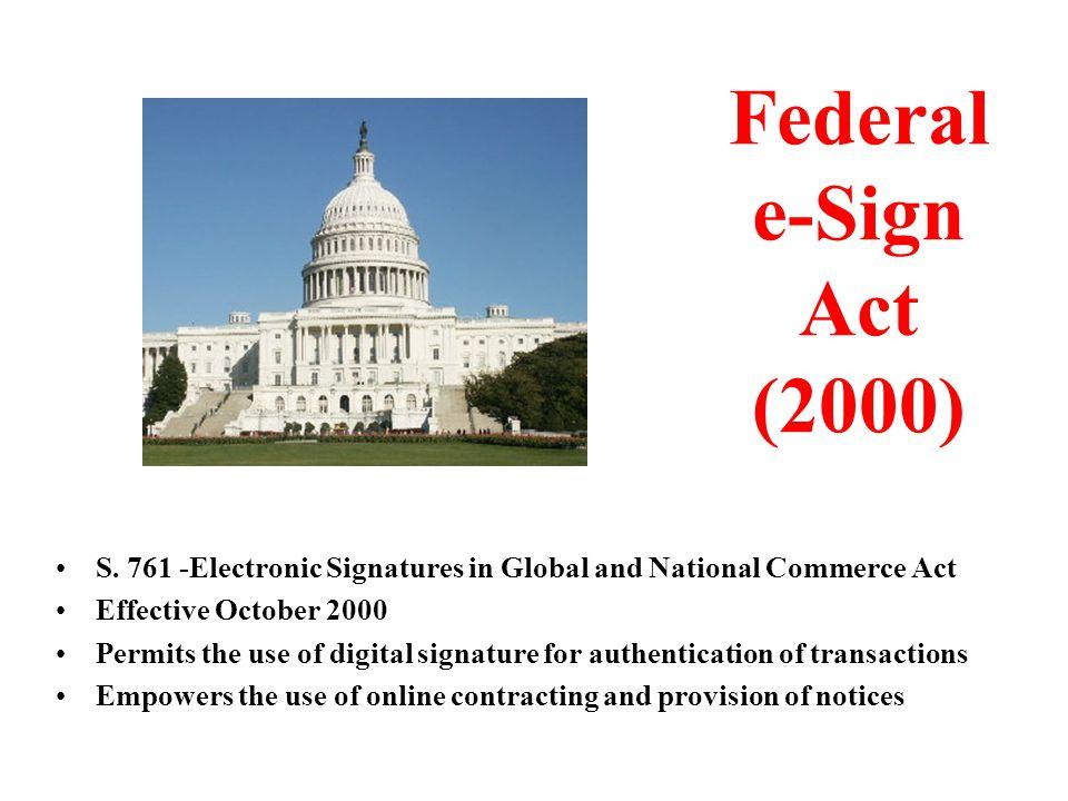 Federal e-Sign Act (2000) S.