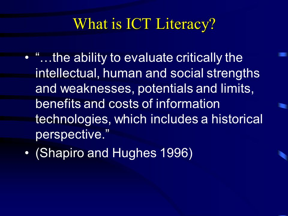 What is ICT Literacy.