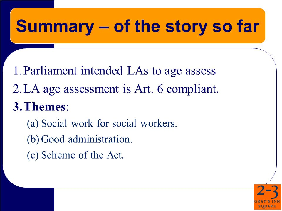 Epilogue: Appellant's Arguments in the House of Lords Construction: contrary to wording of Act.